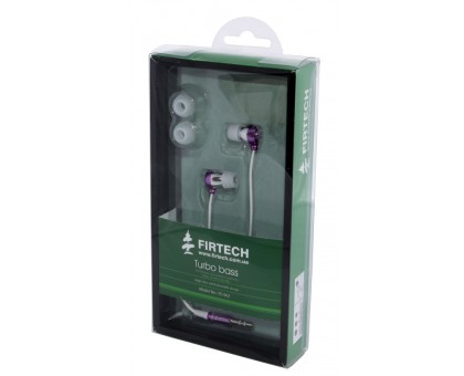 Наушники-вкладыши Firtech FE-062 фиолетовые уценка