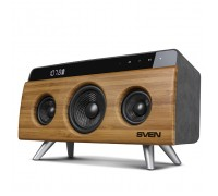Домашня аудiо система SVEN HA-930 бамбук (30 Вт, Bluetooth, FM, USB, LED-дисплей, 2x2200мА*ч)