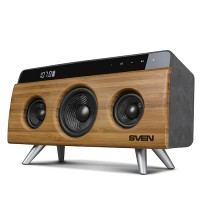 Домашняя аудио система SVEN HA-930 бамбук (30 Вт, Bluetooth, FM, USB, LED-дисплей, 2x2200мА*ч)