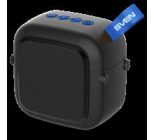 Колонка SVEN PS-48 Black (5 Вт, TWS, Bluetooth, FM, USB, microSD, 500мА*ч)