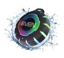 Колонка SVEN PS-95 Black (7 Вт, Waterproof (IPx7), TWS, Bluetooth, 1000мА*ч)