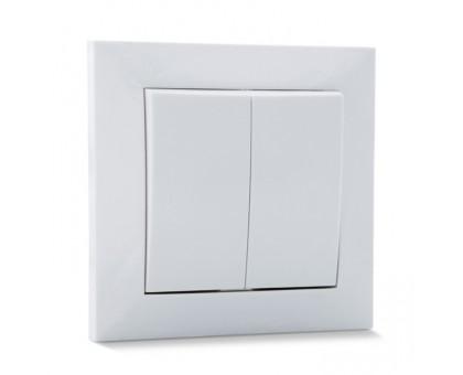 Выключатель SVEN SE-60016 двойной белый