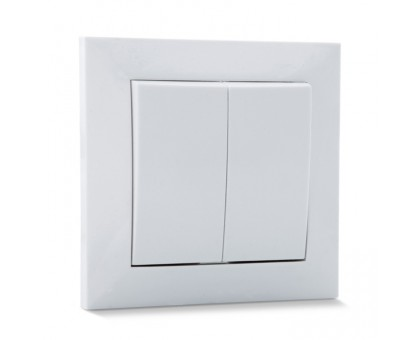 Выключатель SVEN SE-60018 проходной двойной белый