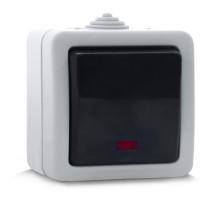 Выключатель SVEN SE-72012L одинарный проходной с индикатором