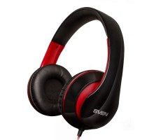 Наушники SVEN AP-940MV с микрофоном черно-красные 4pin