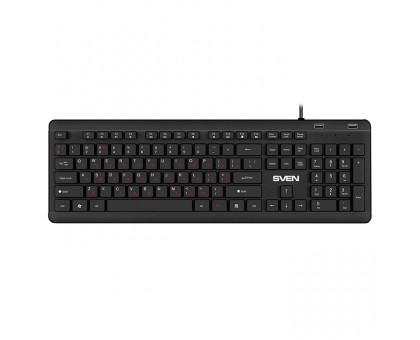 Клавиатура SVEN KB-E5700H (с 2 USB портами) черная