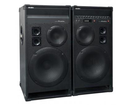 Колонки SVEN STUDIO, 2х150Вт, USB, FM, LCD, Mic, ДУ