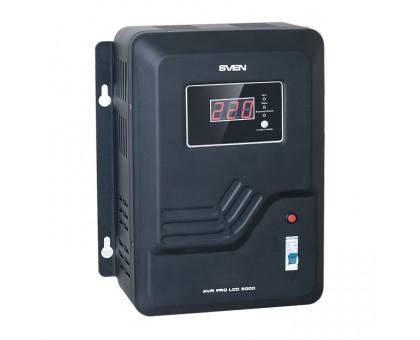 Стабилизатор напряжения SVEN AVR PRO-5000 LCD (УЦЕНКА)
