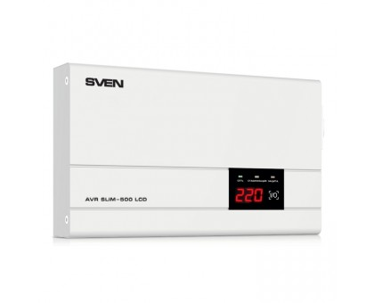 Стабилизатор напряжения SVEN AVR SLIM-500 LCD (УЦЕНКА)