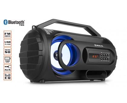 Колонка REAL-EL X-710 Black (bluetooth, подсветка, TWS, USB, Micro SD)
