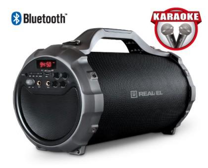 Колонка REAL-EL X-750 Black (bluetooth, караоке)