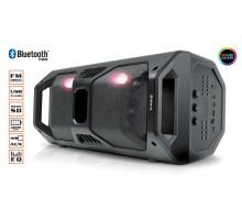 Колонка REAL-EL X-757 Black (bluetooth, підсвічування, TWS, USB, Micro SD, пульт ДК)
