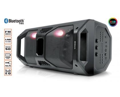 Колонка REAL-EL X-757 Black (bluetooth, подсветка, TWS, USB, Micro SD, пульт ДУ)
