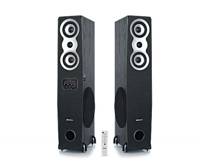 Колонки 2.0 REAL-EL S-2020 black (Bluetooth, USB flash, FM, Karaoke, ДУ)