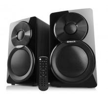 Колонки 2.0 REAL-EL S-450 black (46 Вт, Bluetooth, USB flash, FM радио, ду)