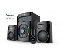 Колонки 2.1 REAL-EL M-375 black (44Вт, Bluetooth, USB, SD, FM, ДУ)
