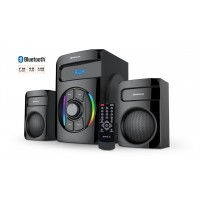 Колонки 2.1 REAL-EL M-375 black (44Вт, Bluetooth, USB, SD, FM, ДУ)