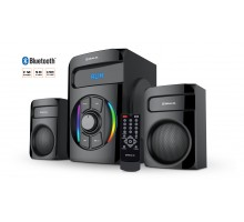 Колонки 2.1 REAL-EL M-375 black УЦІНКА (44Вт, Bluetooth, USB, SD, FM, ДК)