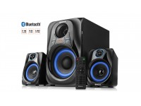 Колонки 2.1 REAL-EL M-380 black (32Вт, Bluetooth, USB, SD, FM, ДУ) УЦІНКА