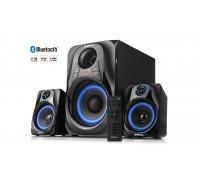Колонки 2.1 REAL-EL M-380 black (32Вт, Bluetooth, USB, SD, FM, ДУ)
