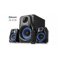 Колонки 2.1 REAL-EL M-380 black (32Вт, Bluetooth, USB, SD, FM, ДУ)