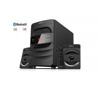 Колонки 2.1 REAL-EL M-390 black (32Вт, Bluetooth, USB, FM, ДУ)