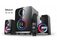 Колонки 2.1 REAL-EL M-580 black УЦЕНКА (58Вт, Bluetooth, USB, SD, FM, ДУ)