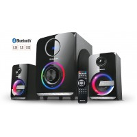 Колонки 2.1 REAL-EL M-580 black (58Вт, Bluetooth, USB, SD, FM, ДК)