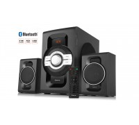 Колонки 2.1 REAL-EL M-590 black (60Вт, Bluetooth, USB, SD, FM, ДУ)