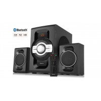 Колонки 2.1 REAL-EL M-590 black (60Вт, Bluetooth, USB, SD, FM, ДК)