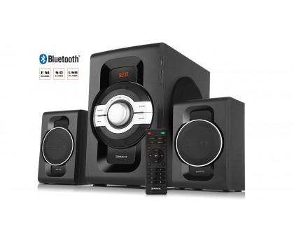 Колонки 2.1 REAL-EL M-590 black (60Вт, Bluetooth, USB, SD, FM, ДУ) УЦЕНКА