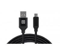 Кабель REAL-EL Premium USB A - Micro USB Fabric 2m черный