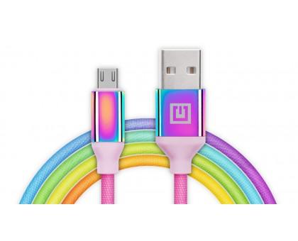 Кабель REAL-EL Premium USB A - Micro USB Rainbow 1m