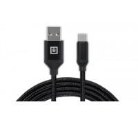 Кабель REAL-EL Premium USB A - Type C Fabric 2m черный