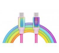 Кабель REAL-EL Premium USB Type C - Type C Rainbow 1m