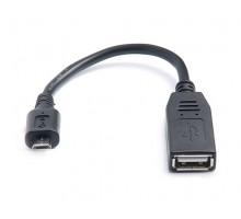 Кабель REAL-EL USB2.0 OTG 0.1m черный