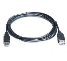 Кабель REAL-EL USB2.0 AM-AF (удлинитель) 1,8m черный