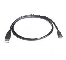 Кабель REAL-EL USB2.0 AM-Type C 1m черный