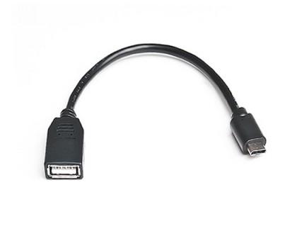 Кабель REAL-EL USB2.0  Type C-AF 0.1m черный