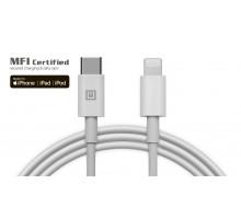 Кабель REAL-EL MFI PD USB type C - Lightning TPE 1m белый