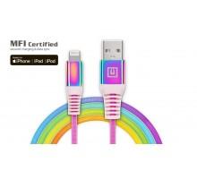 Кабель REAL-EL MFI USB A - Lightning Rainbow 1m