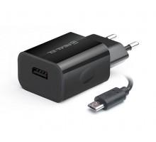 Зарядное устройство REAL-EL CH-215 USB (Micro USB кабель + USB)