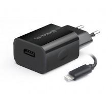 Зарядное устройство REAL-EL CH-217 USB (Lightning  кабель + USB)