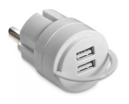 Зарядний USB-пристрій REAL-EL CH-2U білий