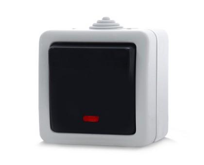 Выключатель REAL-EL Storm-72011L одинарный с индикатором