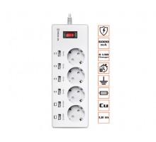 Фильтр-удлинитель REAL-EL RS-4F Charge 6 1.8m белый