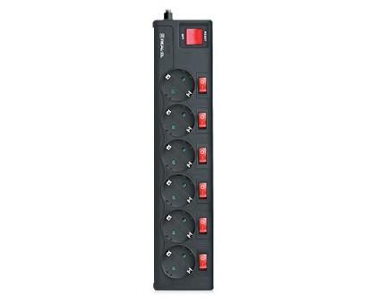 Фильтр-удлинитель REAL-EL RS-6 EXTRA 5m черный уценка