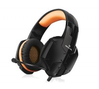 Наушники REAL-EL GDX-7700 SURROUND 7.1 black-orange игровые с микрофоном USB