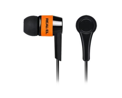 Наушники REAL-EL Z-1005 черно-оранжевые