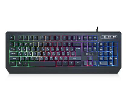 Клавиатура REAL-EL Comfort 7001 Backlit USB игровая с подсветкой